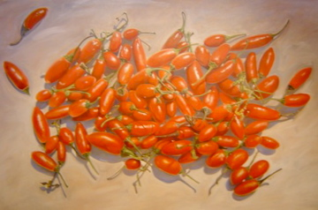 Painting of Peri-Peri Chiles