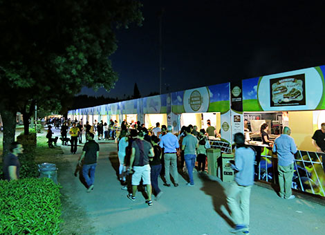 Crowd at night