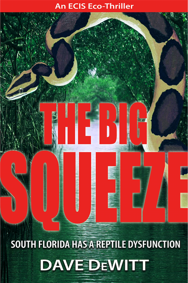 Set in South Florida, this thriller is about reptile smuggling and the attempt to remove feral Burmese pythons and Nile monitor lizards from the Everglades.