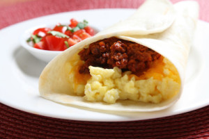 Breakfast Burrito with Mexican Chorizo