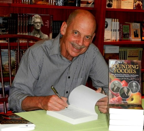 Dave signing a book at Monticello
