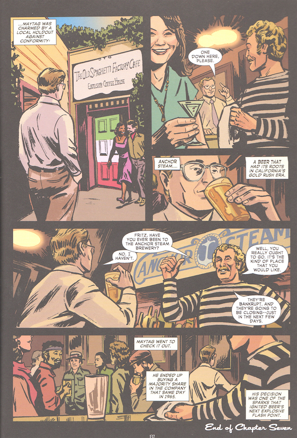 Interior of Comic Book Story of Beer
