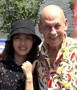 I was provided a personal assistant and translator. Meet Jo, 50 years younger that I am. Many Chinese women adopt English names for professional reasons.