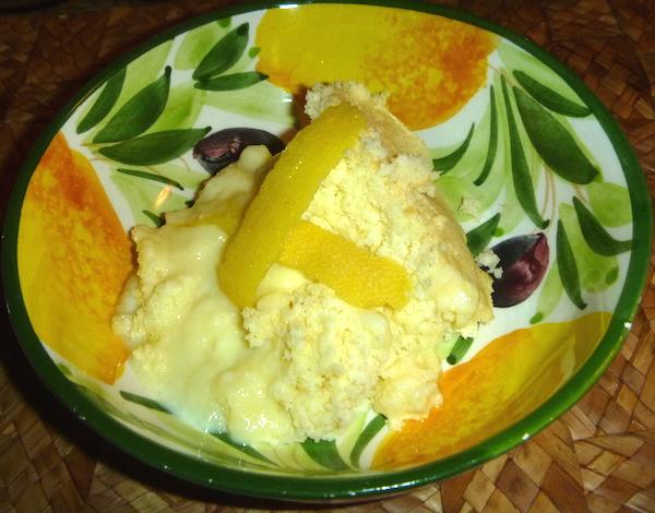 Lemon Souffle Pudding
