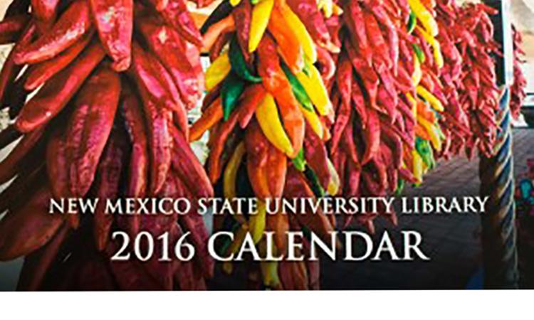 NMSU Library Calendar 2016 cover