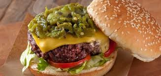 Green Chile Cheeseburger