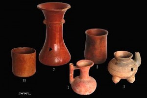 Ancient Pots with Chile Sauce Residue