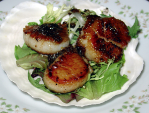 Grill-Seared Scallops