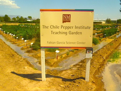 Sign at teaching garden
