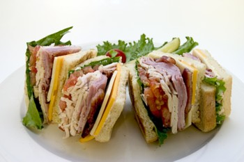 Spicy Southwestern Club Sandwich