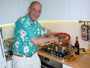 Dave Cooking Mexitalian Chili Con Carne