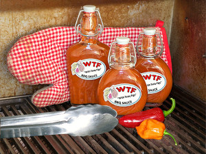 The Finished WTF BBQ Sauce