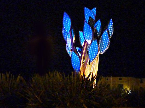 The Solar Tree at Night