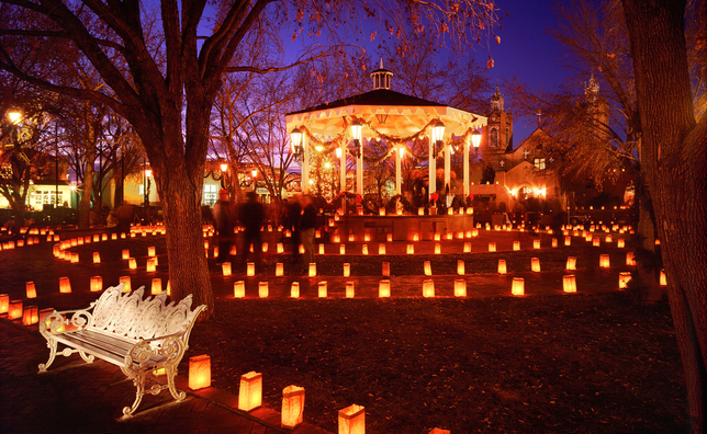 luminarias in Old Town