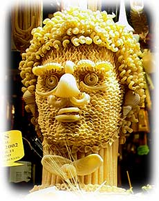 Leave it to the Italians to come up with a pastahead sculpture!