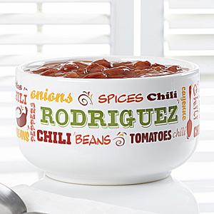 personalized chili bowl