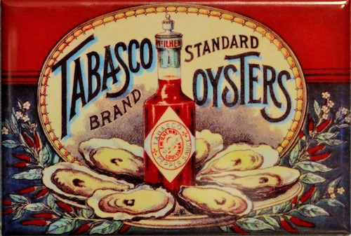 sd2683-tabasco-brand-oysters-fridge-magnet-hot-sauce-kitchen-vintage-style-ad