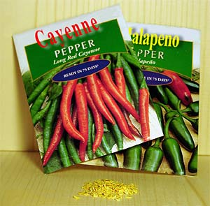 pepper seedpacks