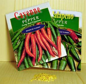pepper seedpacks