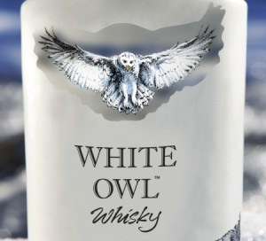 This Canadian whisky is referencing the snowy owl.